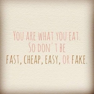 Quote you are what you eat